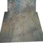 Au fond d'une des loges on aperçoit une gravure trifide qui pourrait être un larmier.
